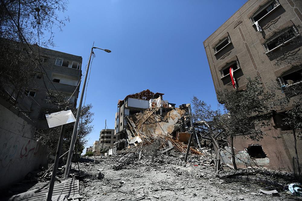 Последствия авиаудара ВВС Израиля по сектору Газа