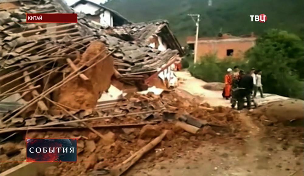 Последствия землетрясения в Китае