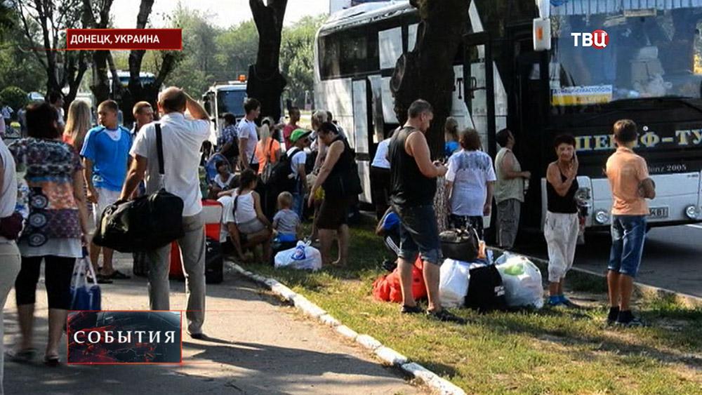 Жители Донецка покидают город
