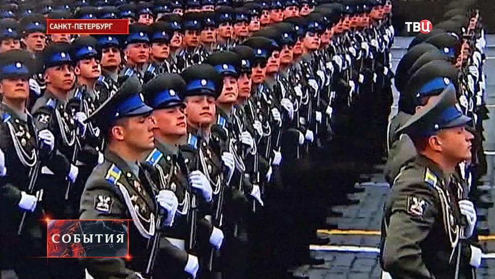 Курсанты военно-космической академии имени Можайского участвуют в параде