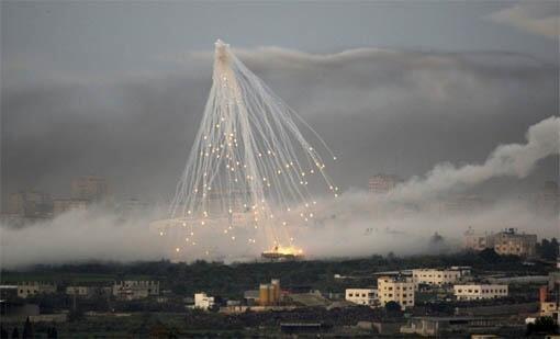 Обстрел фосфорными бомбами
