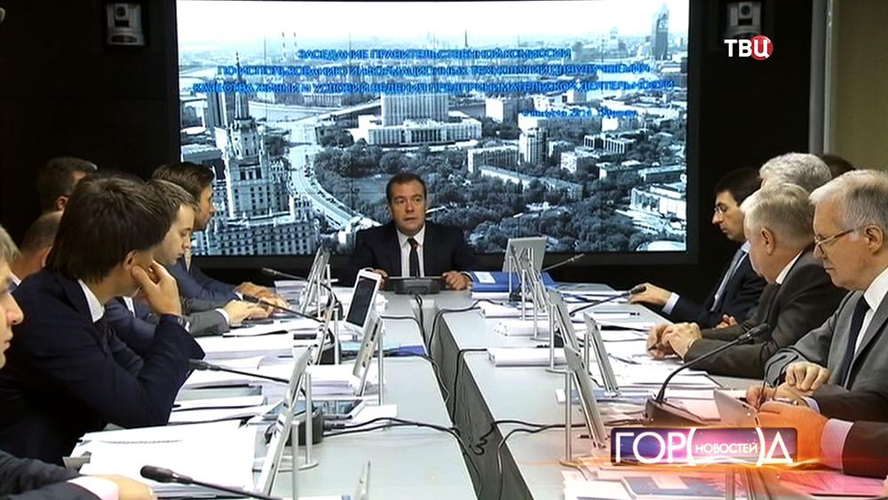 Премьер-министр Дмитрий Медведев на заседании