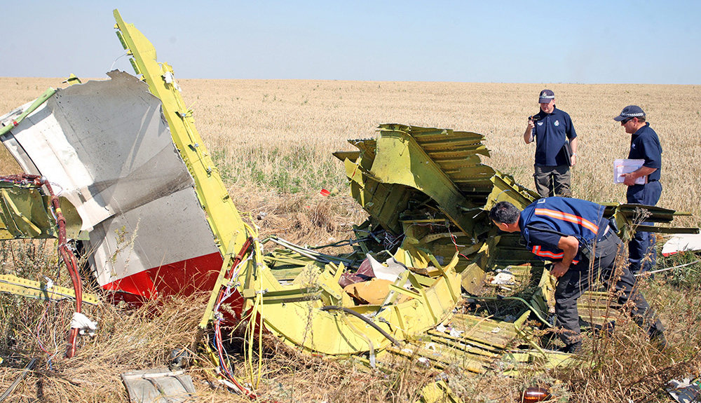 Международные эксперты на месте падения Boeing 777 в Донецкой области