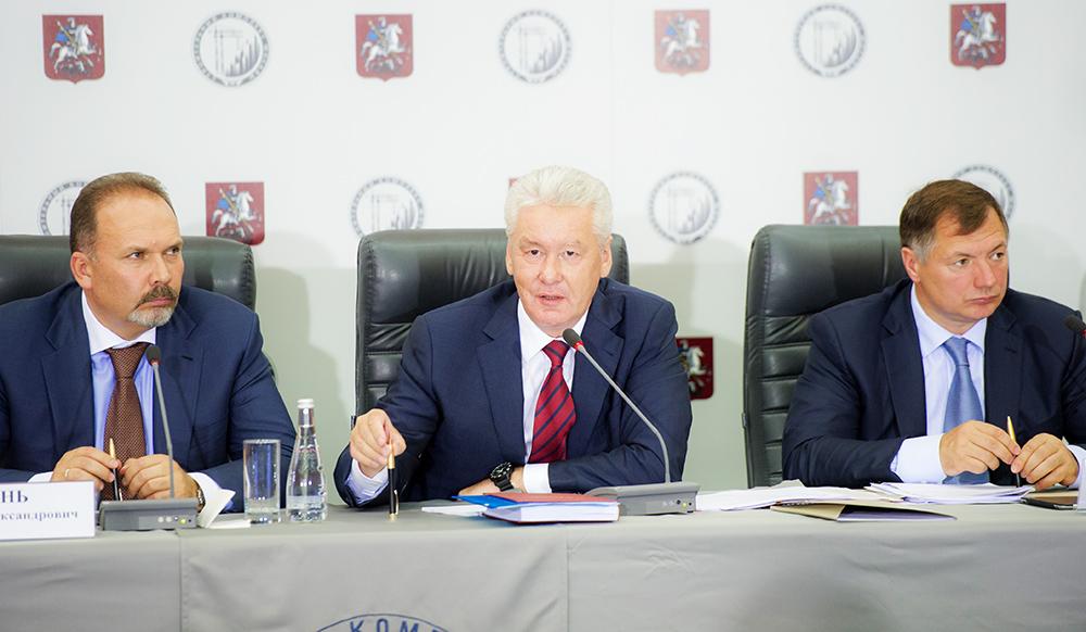 Михаил Мень, Сергей Собянин и Марат Хуснуллин