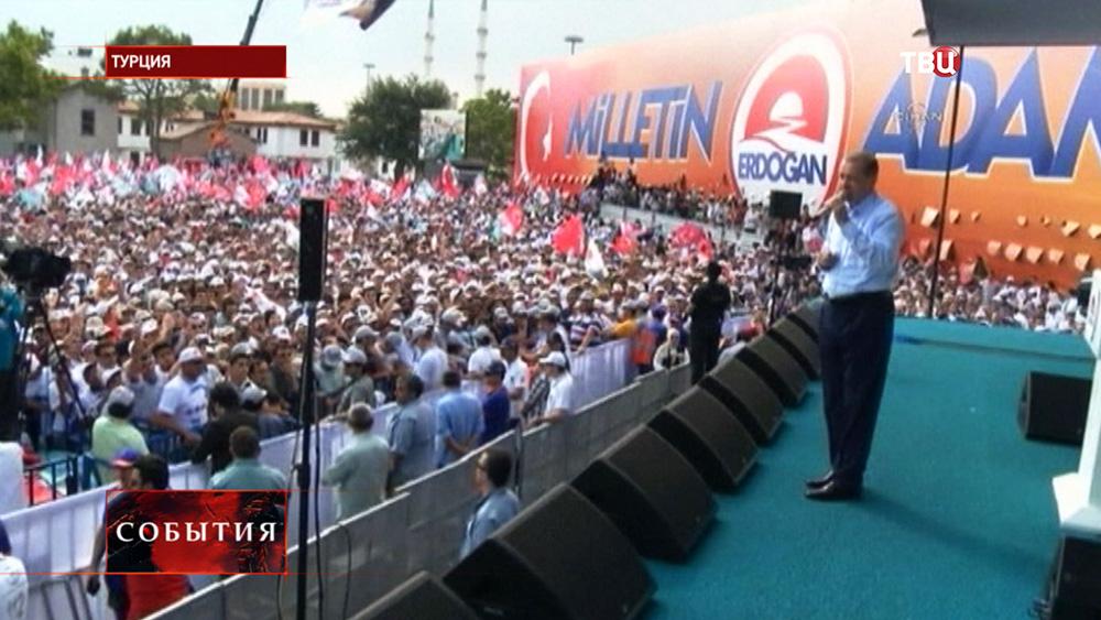 Предвыборный митинг в Турции