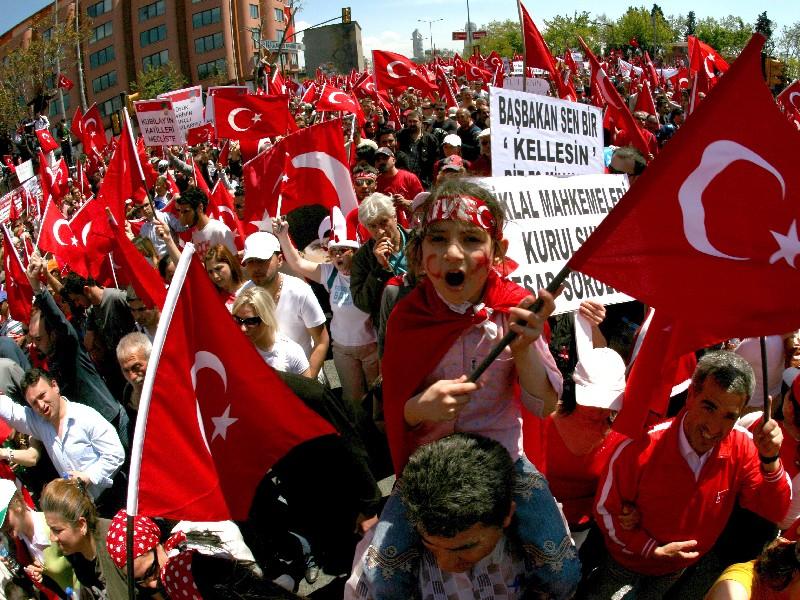 Празднование победы на президентских выборах Тайипа Эрдогана
