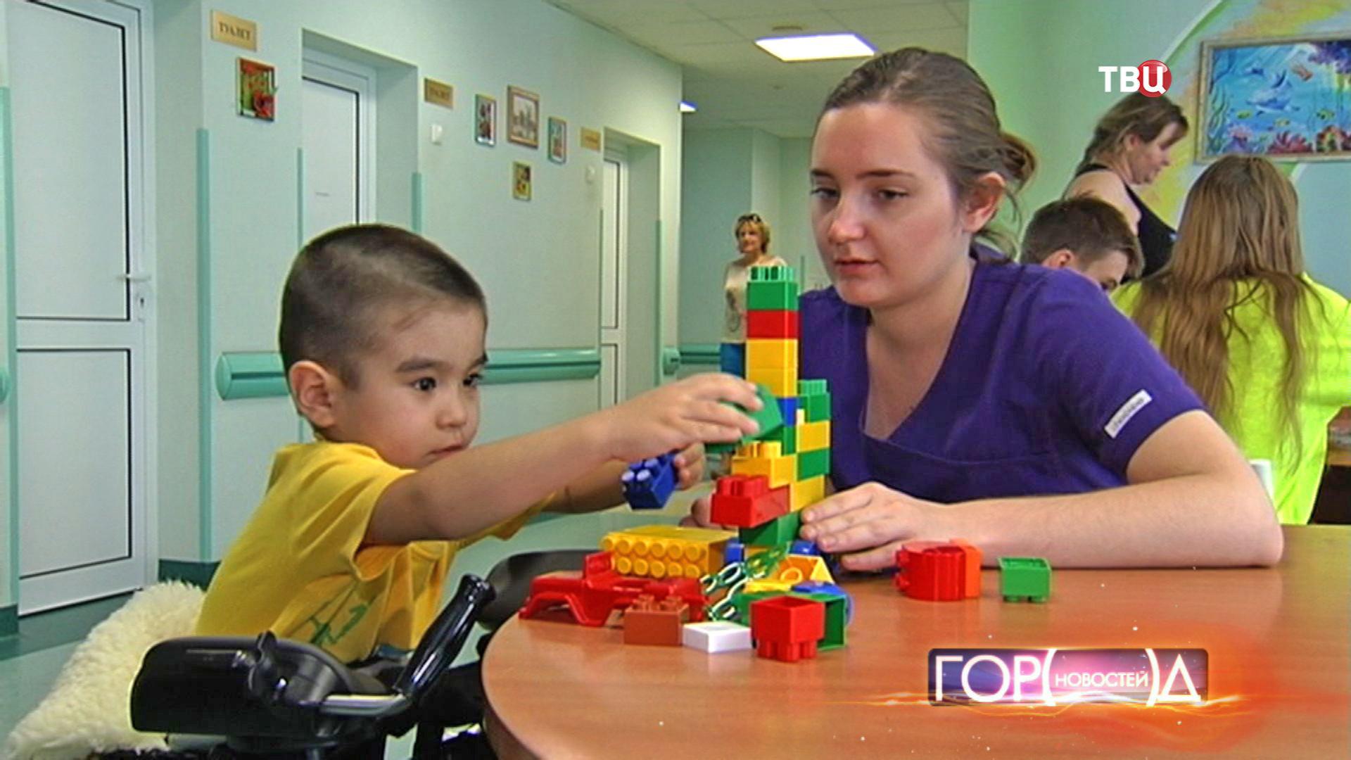 Ребенок в реабилитационном отделении