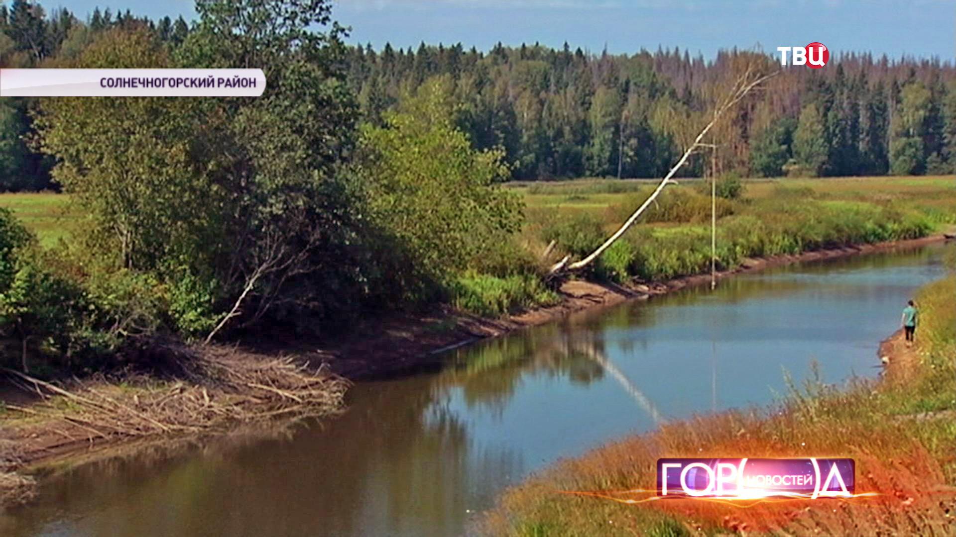 Водный канал в Солнечногорском районе Подмосковья