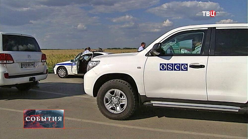 Представители ОБСЕ на пограничном пункте пропуска
