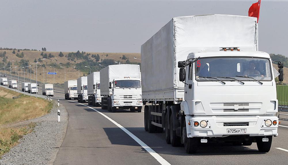 Автоколонна с гумпомощью для жителей юго-востока Украины