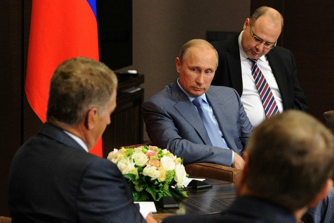 Владимир Путин с президентом Финляндии Саули Ниинистё