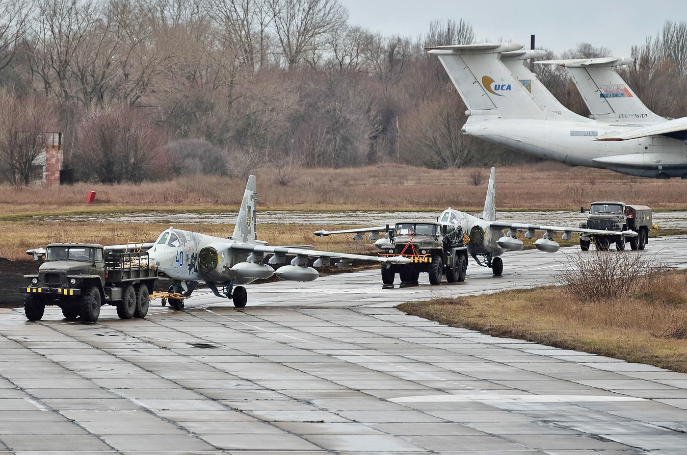Штурмовики Су-25 ВВС Украины