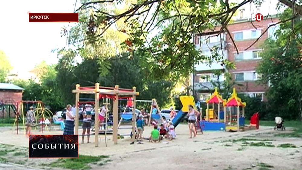 Детская площадка в Иркутске