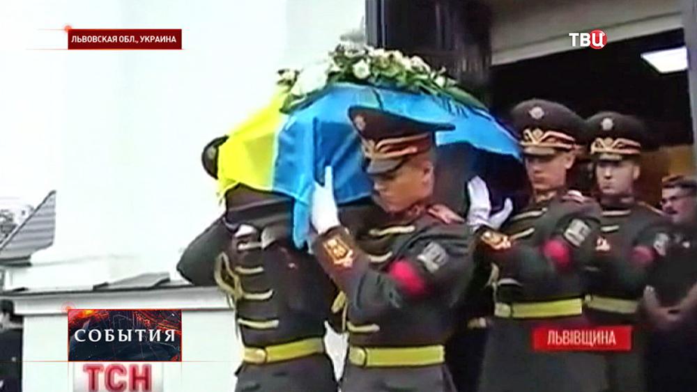 Похороны украинских военных во Львовской области