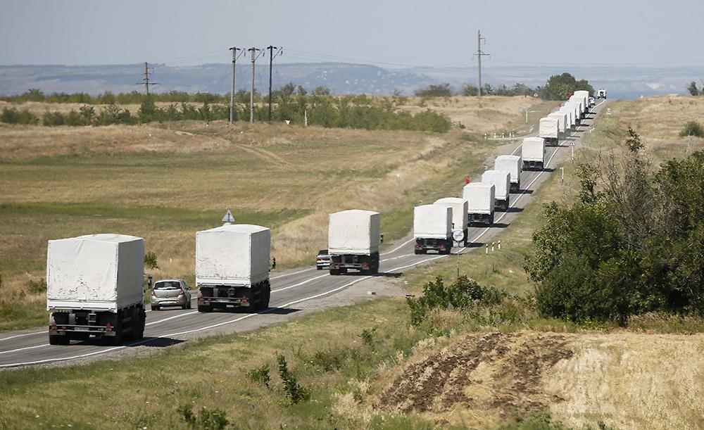 Автоколонна с гуманитарной помощью жителям юго-востока Украины