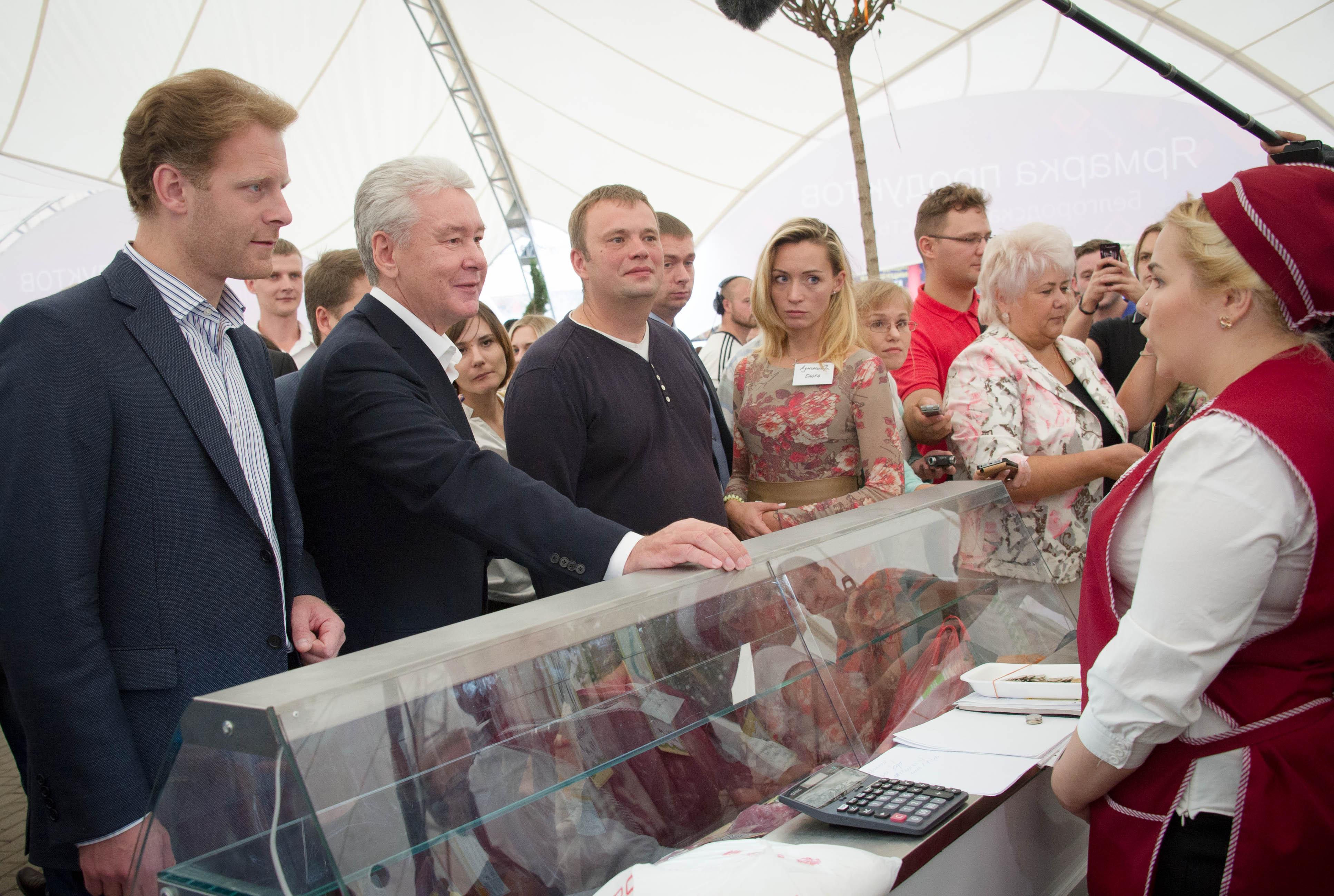 Мэр Москвы Сергей Собянин посетил гастрономический фестиваль