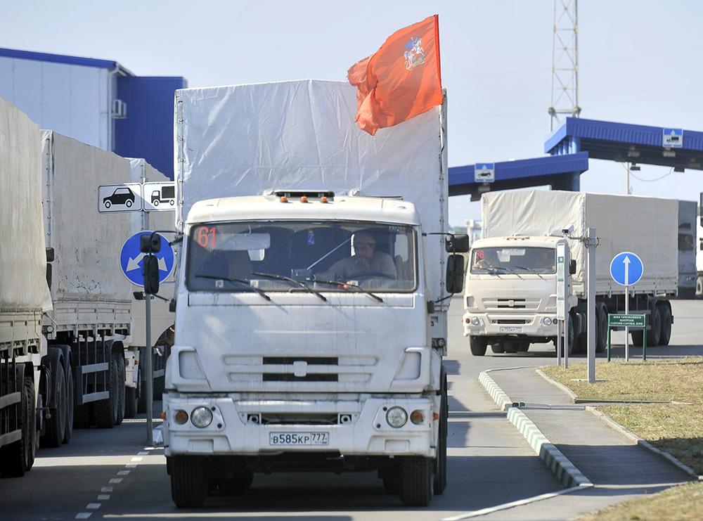 Гуманитарная автоколонна вернулась в Россию