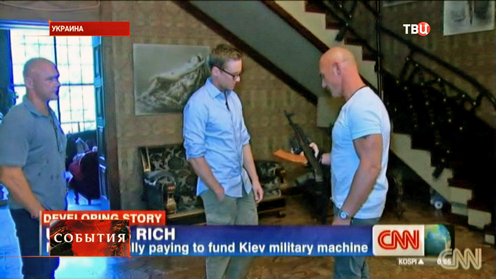 Бизнесмены Украины покупают амуницию для воюющих солдат