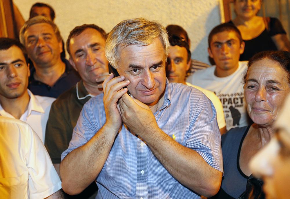 Глава оппозиции республики Абхазия Рауль Хаджимба