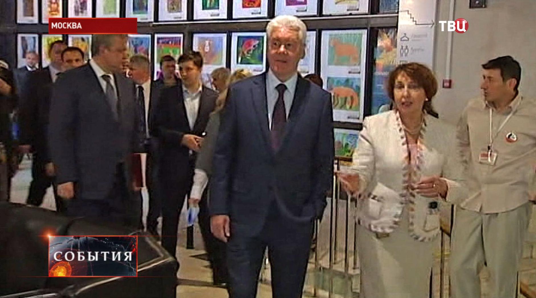 Сергей Собянин в Дарвиновском музее