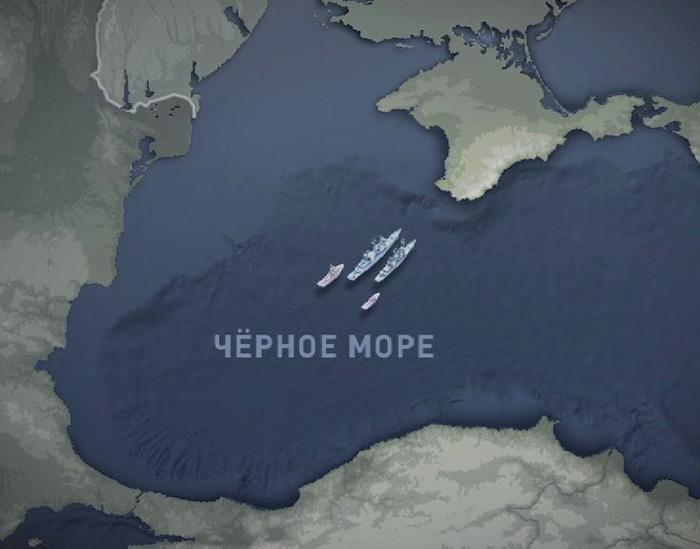 Группа американских боевых кораблей готовится войти в 12-мильную зону территориальных вод СССР