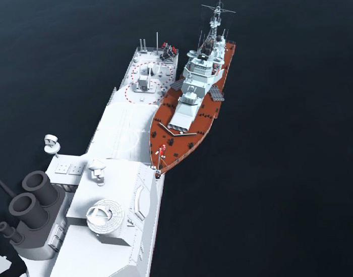 """Сторожевой корабль """"Беззаветный"""" совершил навал на крейсер ВМС США """"Йорктаун"""""""