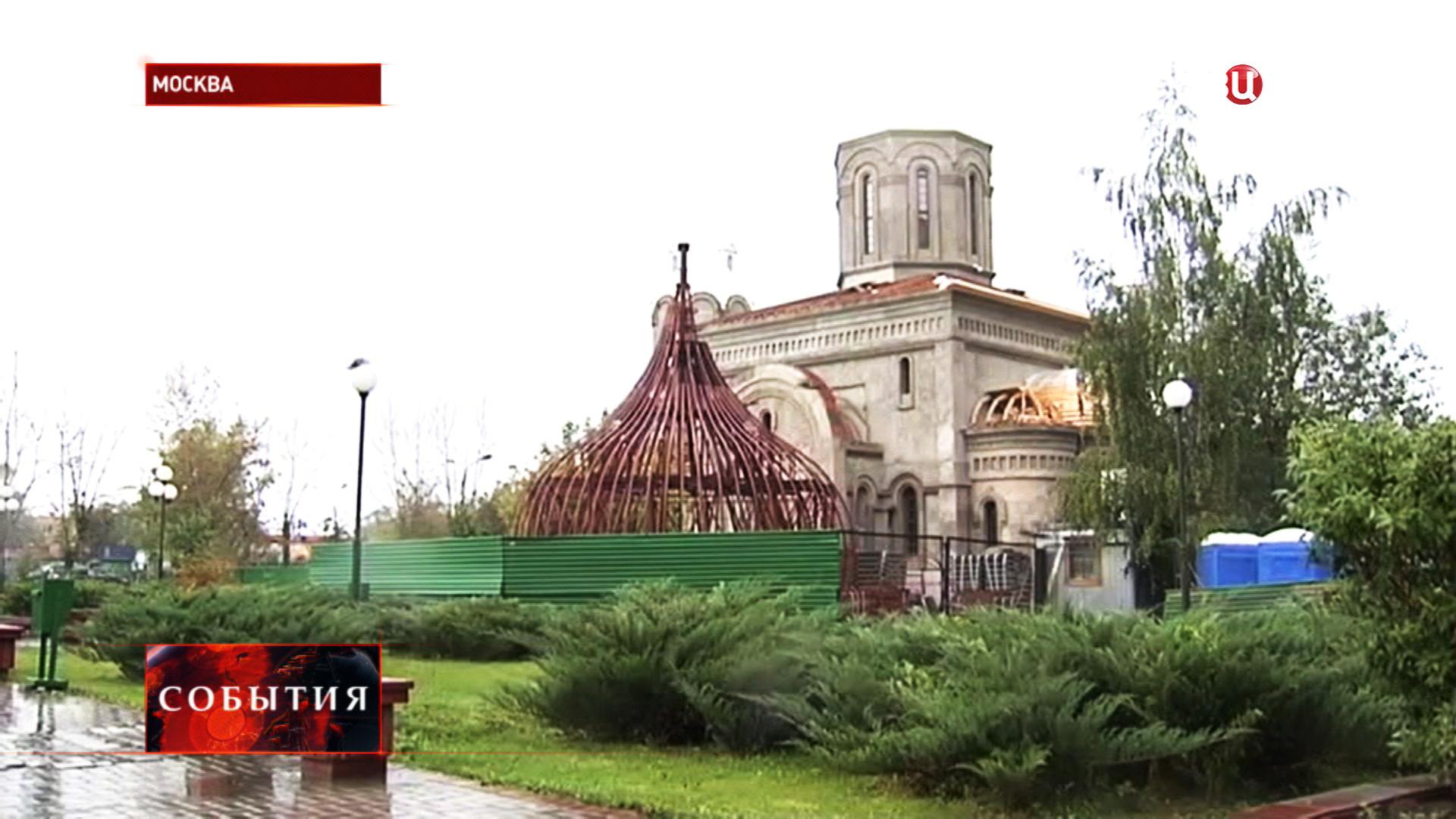 Строительство храма в Щербинке