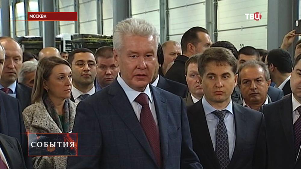 Мэр Москвы Сергей Собянин на открытии оптово-продовольственного центра