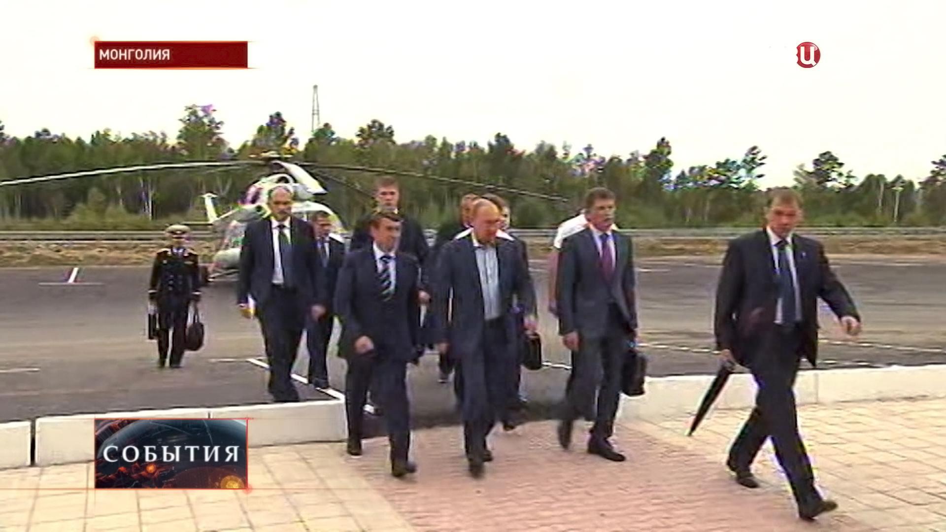 Владимир Путин прибыл в Манголию