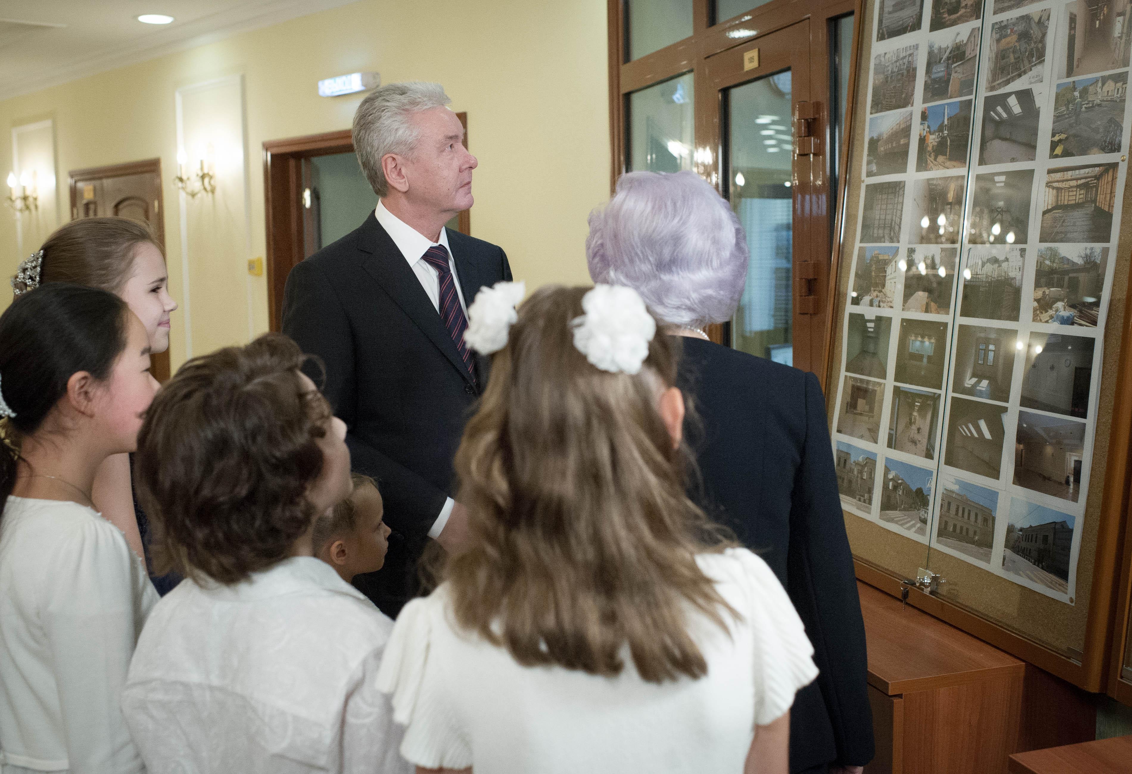 Сергей Собянин на открытии музыкальной школы имени Танеева