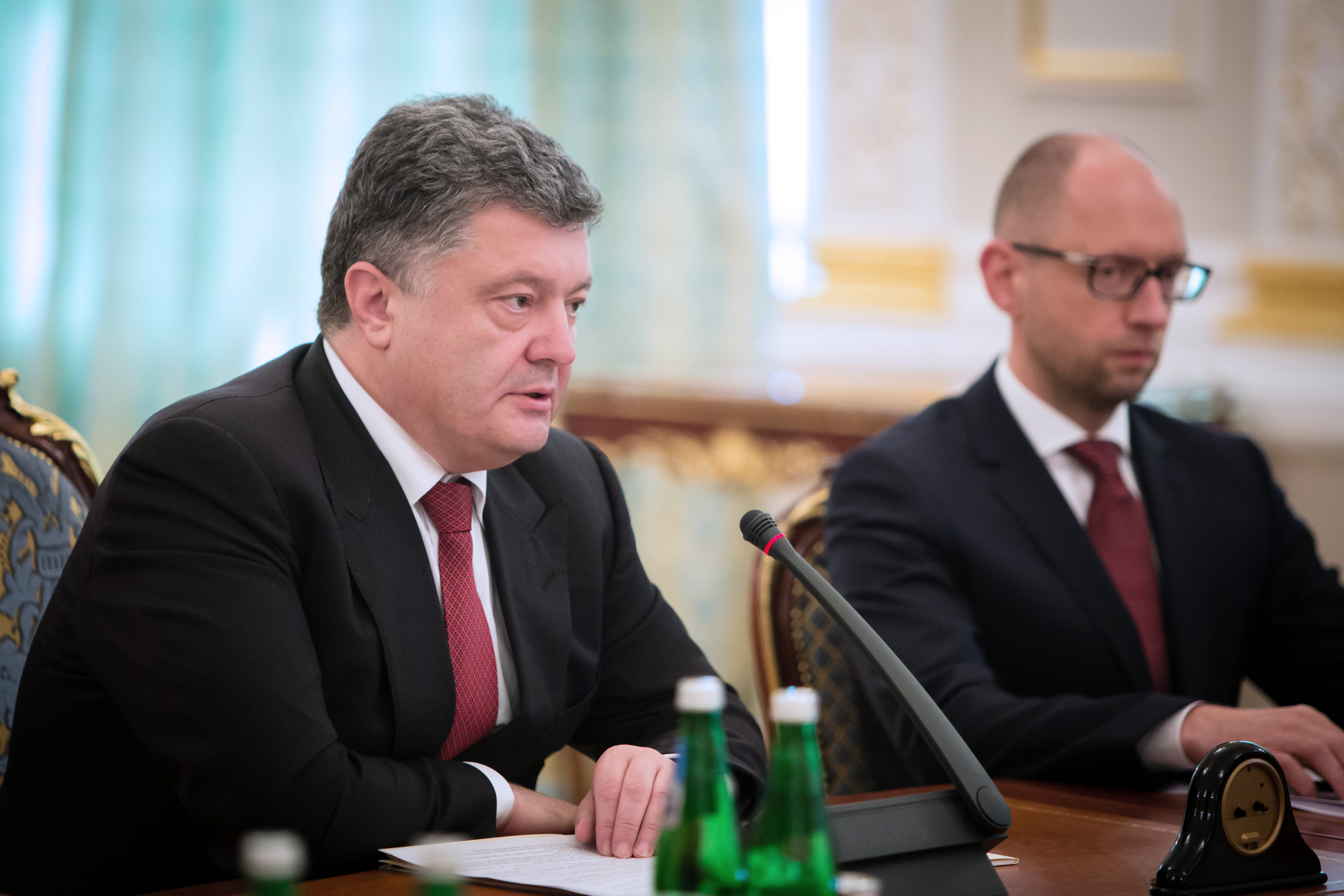 Президент Украины Пётр Порошенко и премьер-министр Украины Арсений Яценюк