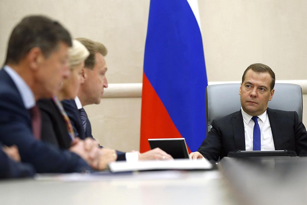 Премьер-министр РФ Дмитрий Медведев провел совещание с вице-премьерами РФ