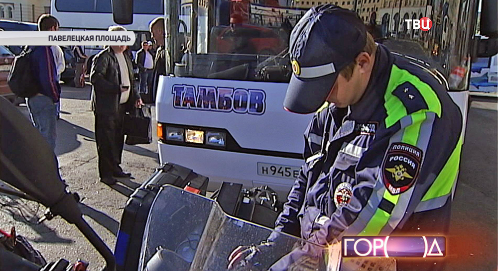Проверка междугородного автобуса на Томбов