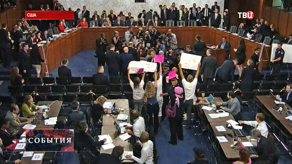 Акция протеста против войны прошла в Конгрессе США