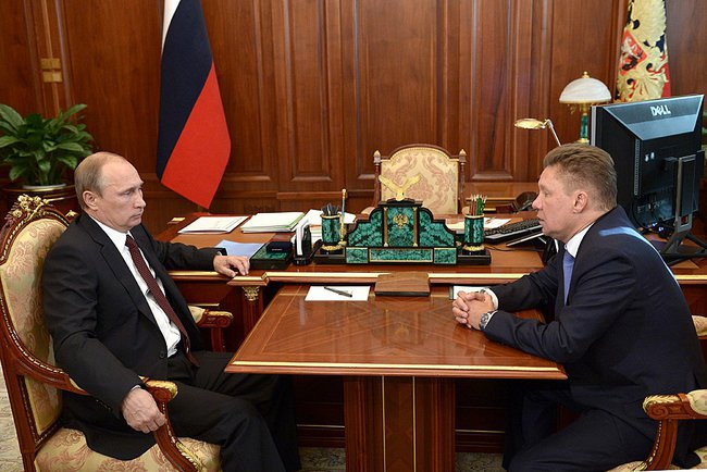 Владимир Путин и Алексей Миллер