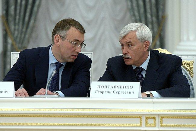 Губернатор Ненецкого автономного округа Игорь Кошин и губернатор Санкт-Петербурга Георгий Полтавченко