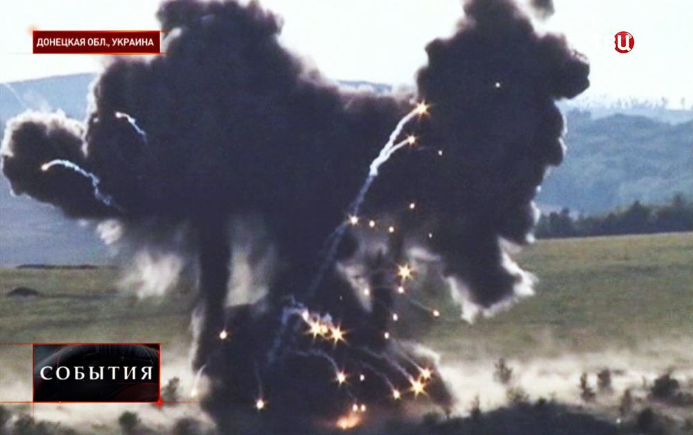 Взрыв в Донецкой области