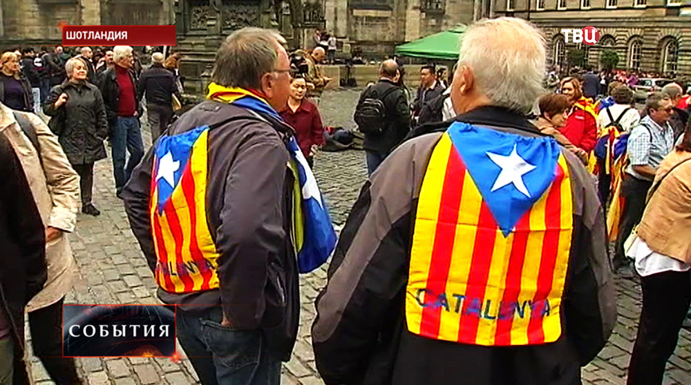 Представители из Каталонии на референдуме в Шотландии