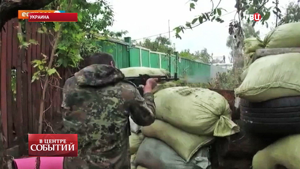 Украинские каратели ведут бой в Донецкой области