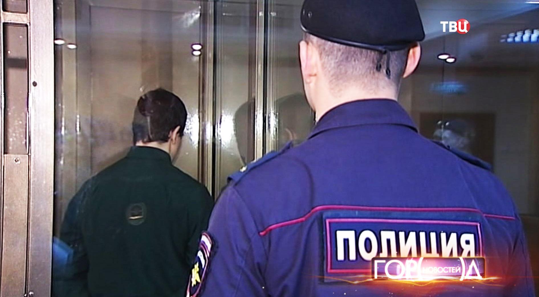 Никита Тихонов в зале суда