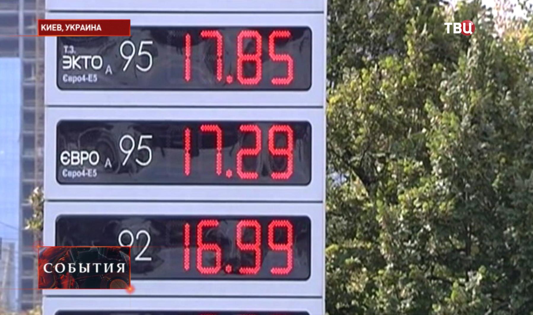 Стоимость топлива в Киеве
