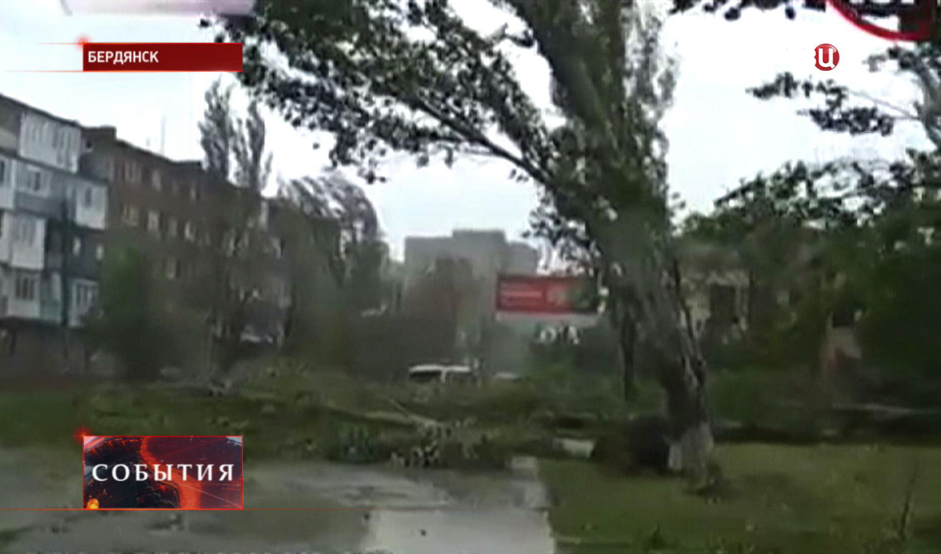 Ураган в Бердянске