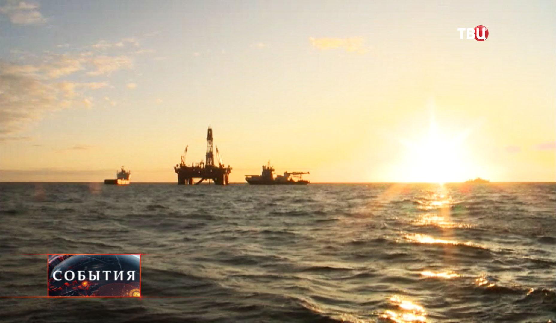 Нефтяная вышка в Карском море