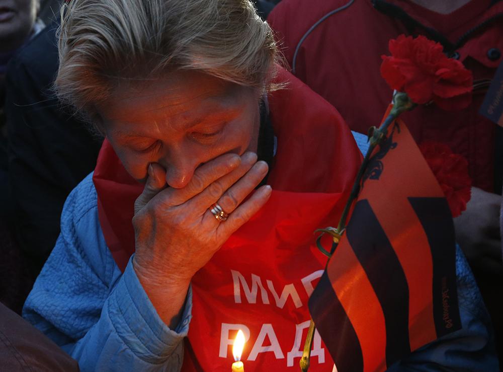 """Акция скорби """"Донецк: невинно убиенные"""" на Поклонной горе"""