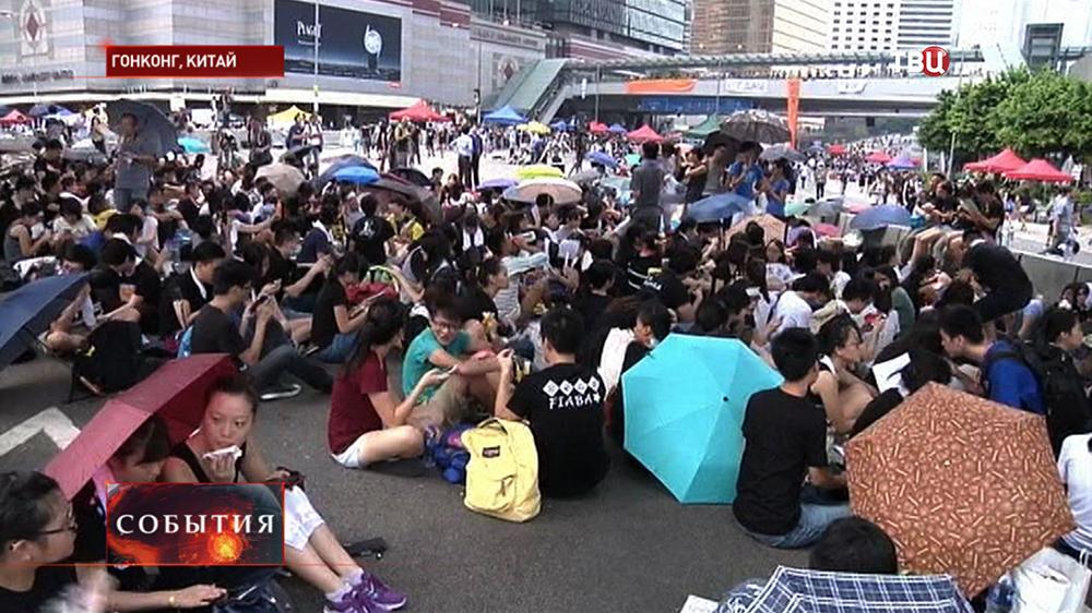Массовая акция протеста в Гонконге