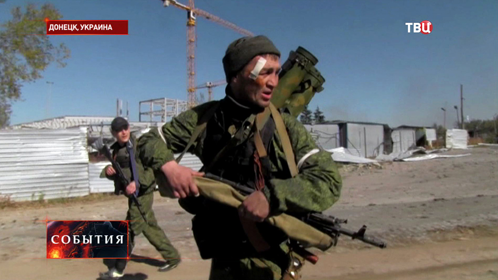 Народные ополченцы Новороссии в Донецке