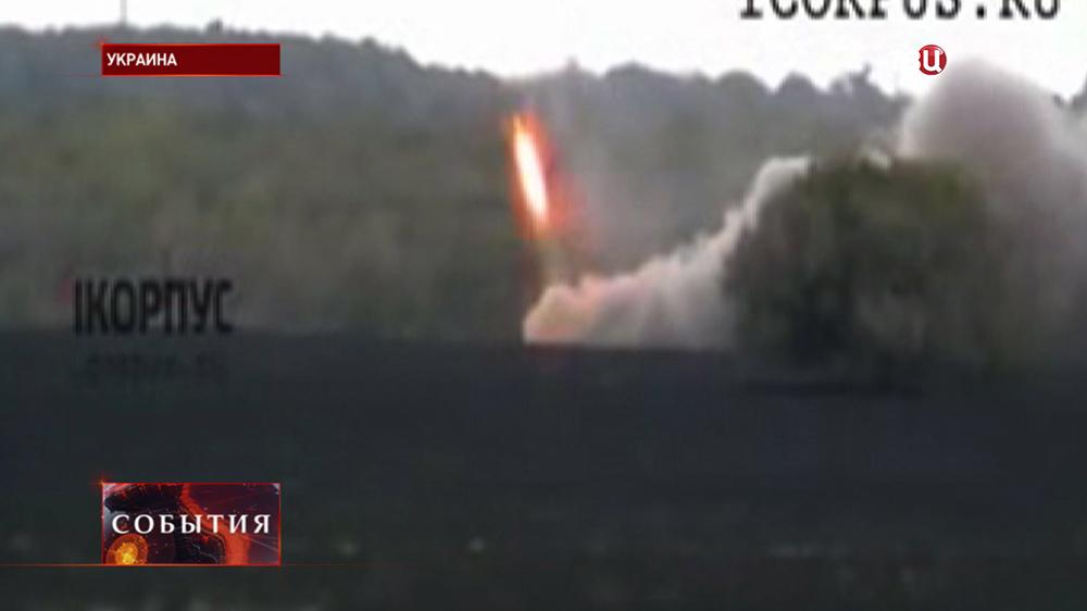 Обстрел жилых районов Донецка Нацгвардией Украины