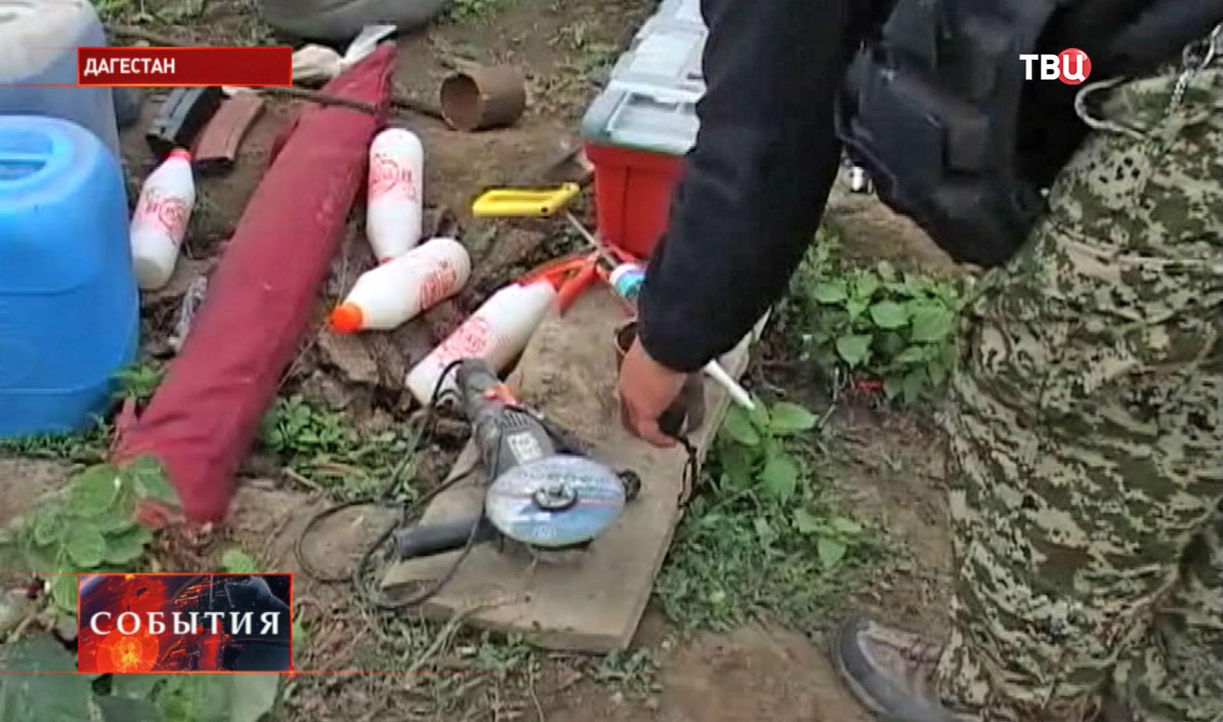 Самодельные бомбы участника теракта