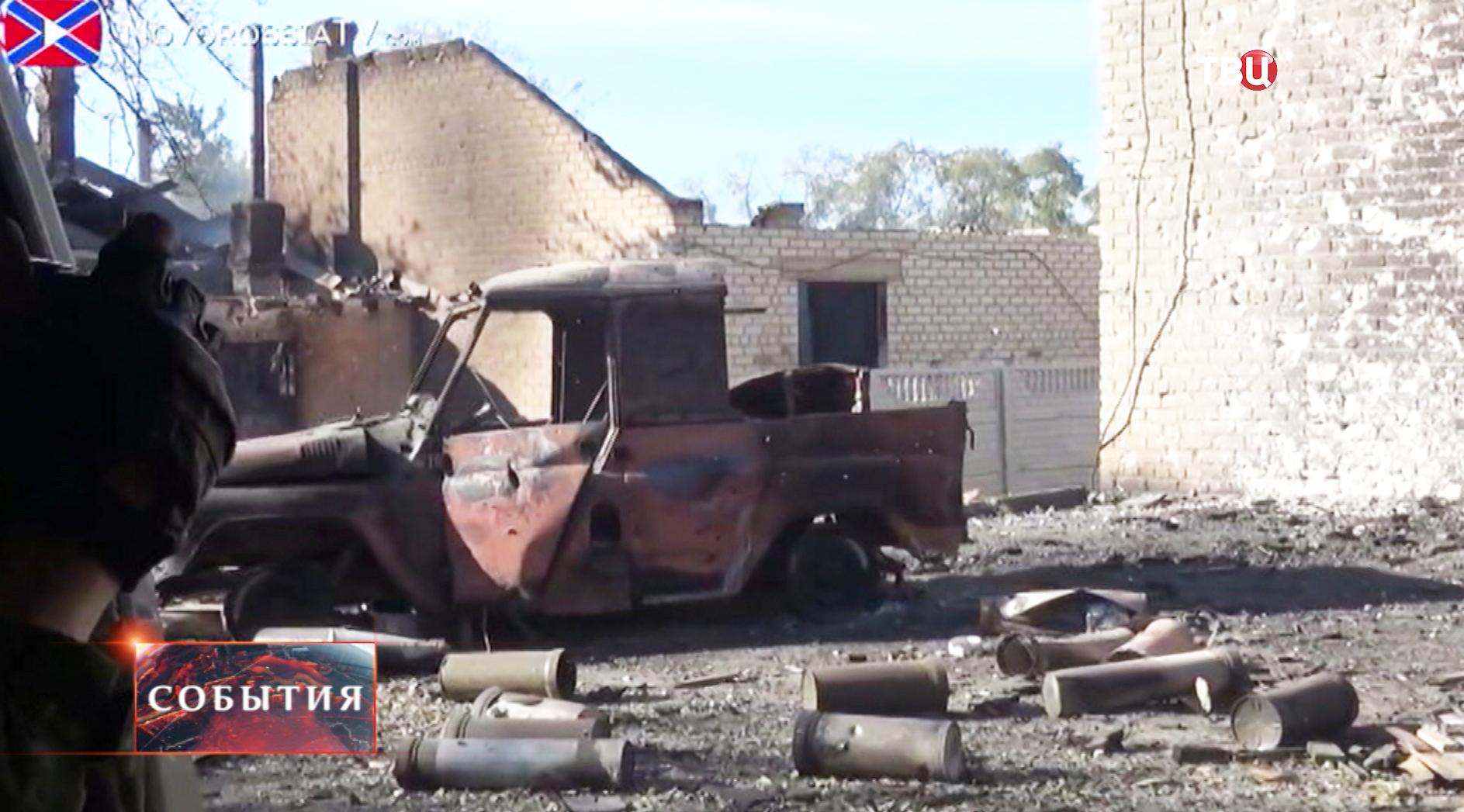 Результат артобстрела жилых районов на юго-востоке Украины