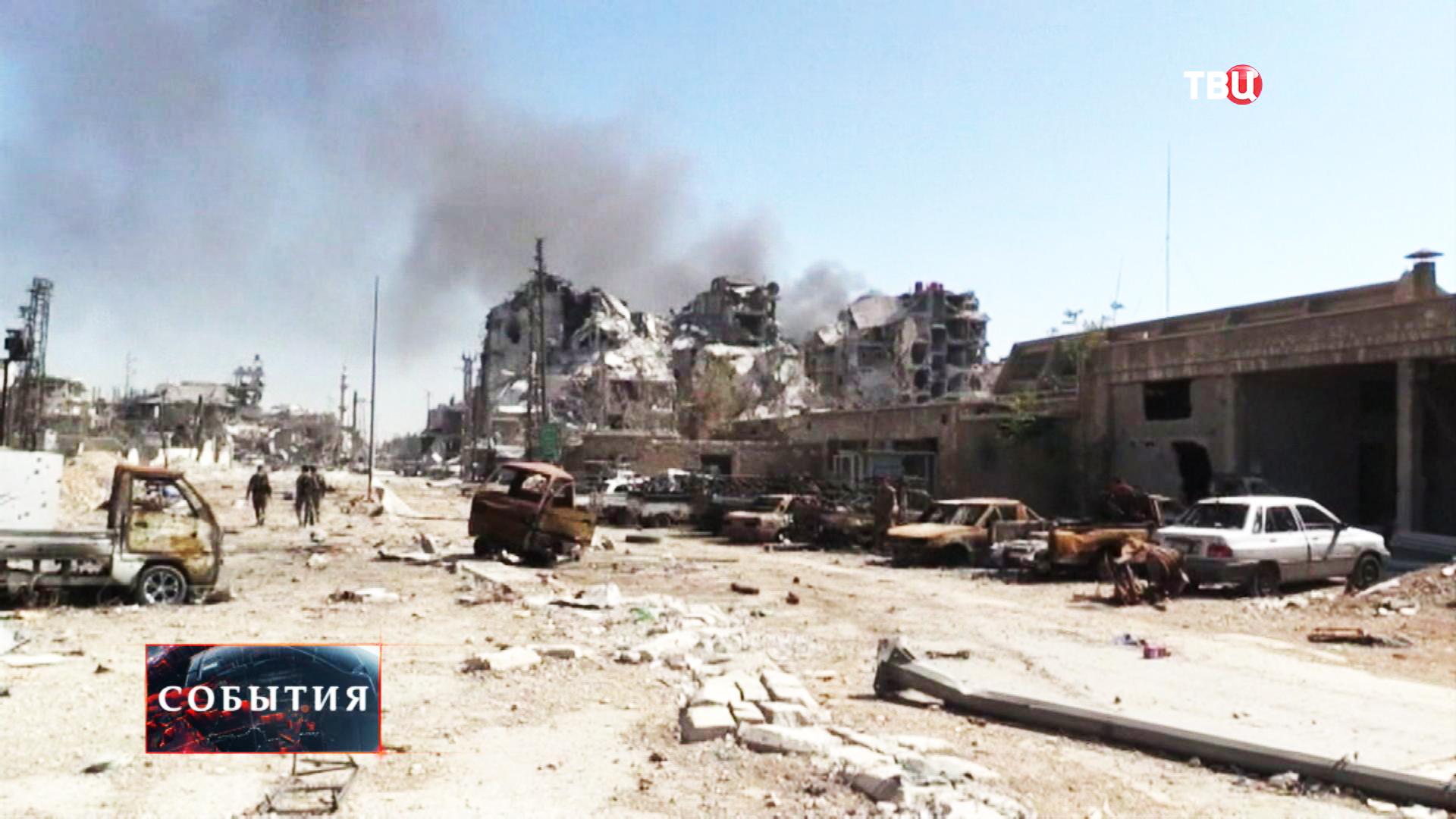 Результат артобстрела сирийского города Кобани